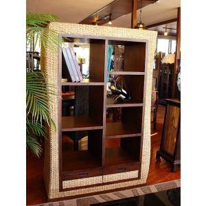 アジアン家具  ◆ウォーターヒヤシンス キャビネット H150◆ 棚 チーク 木製家具 |store-monsoon