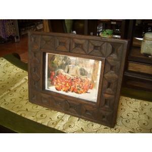 木製フォトフレーム 木製写真立て アジアン雑貨|store-monsoon