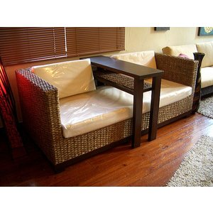 アジアン家具 バリ島 ◆ウォーターヒヤシンス・キャビネット付きソファー◆ 二人掛け|store-monsoon