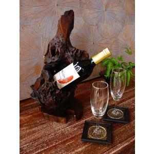 ワインホルダー ワインラック 木製 古木 おしゃれ カフェ ワイングラスホルダー|store-monsoon|03