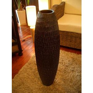 アジアン花瓶 アジアンオブジェ  【マンゴーウッドベース H77 】大型木製花瓶 花器 花瓶|store-monsoon
