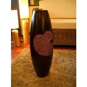 アジアンインテリア アジアンオブジェ エスニックインテリア 【マンゴーウッドベース H60 】木製花瓶 花器 花瓶|store-monsoon