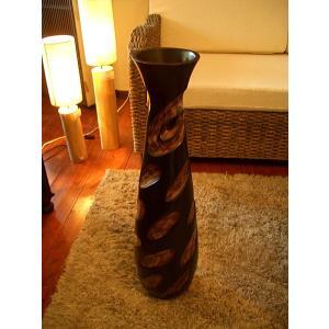 アジアンインテリア アジアンオブジェ エスニックインテリア 【マンゴーウッドベース H76】木製花瓶 花器 花瓶|store-monsoon