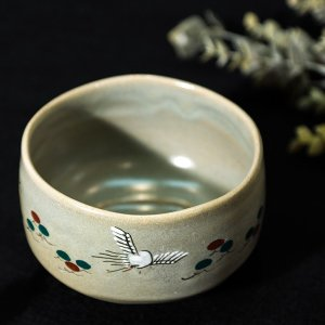 赤膚焼 奈良絵茶碗「鶴」 |store-naratv