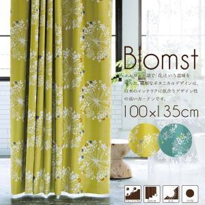 カーテン ドレープカーテン 北欧風の繊細でボタニカルなデザイン blomst 100×135cm (2枚組) 日本製 遮光 ウォッシャブル 形状記憶 北欧 store-pocket