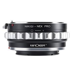 K&F Concept マウントアダプター Nikon Gレンズ-SONY NEX Eカメラ装着 P...