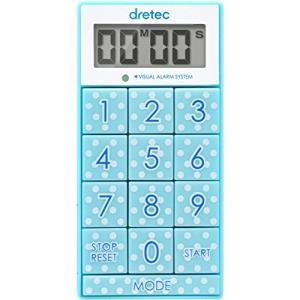 dretec(ドリテック) デジタルタイマー スリムキューブ 消音切替 光 ブルー T-520BL