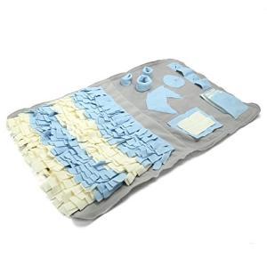 Pidsen ペットおもちゃ 訓練毛布 犬 猫 ペット ノーズワーク マット 分離不安/食いちぎる対策 (100*60(グレイ))