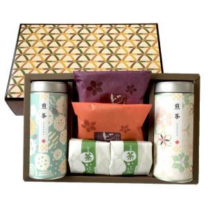 【お父さん・お母さんありがとうセットA】    お茶:初摘み新茶100g×2缶 お菓子:どら焼き×2...