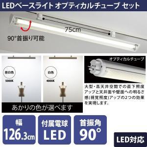 配線ダクト用 LEDベースライト オプティカルチューブ 照明 白色 昼白色|storeplan
