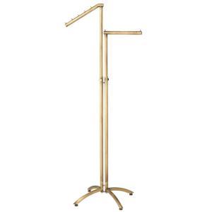 2wayハンガー丸パイプ アンティークゴールド アールタイプ スチール製 直角 直傾斜|storeplan
