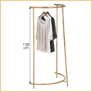 ハーフラウンドハンガーラック アンティークゴールド スチール製 幅94.2cm 耐荷重10kg|storeplan