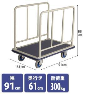 ガード付きスチール製台車 カートラック ストックカート|storeplan