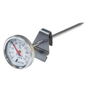72960:温度計V-1  丸T字型 0〜100℃ Φ3.5×13cm 調理用 @シンワ測定 storesupply-shouten