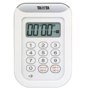 TD-378-WH(ホワイト):丸洗いタイマー100分計 @タニタ storesupply-shouten