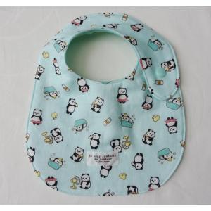 出産祝 スタイ よだれかけ 日本製・ガーゼ たまご型 パンダ風呂|stories-shop