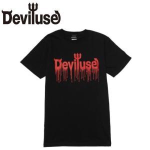 DEVILUSE LOGO Blood SS Tshirts Black デビルユース ロゴ 半袖 Tシャツ ブラック|stormy-japan