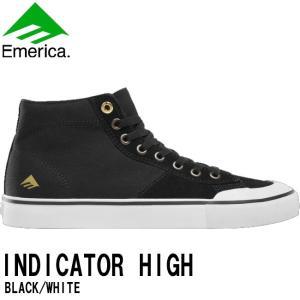 EMERICA INDICATOR HIGH SKATEBOARD SHOES(BLACK/WHITE)(エメリカ スケートボード シューズ)17s(SKATEBOARD)(スケートボード)(スケボー)(スケシュー)|stormy-japan