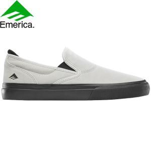 EMERICA WINO G6 SLIP-ON SKATE VAN SKATEBOARD SHOES WHITEBLACK エメリカ スケートボード スケボー シューズ スニーカー ホワイトブラック 20s|stormy-japan