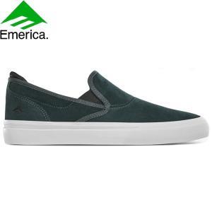 EMERICA WINO G6 SLIP-ON SKATE VAN SKATEBOARD SHOES GREENWHITE エメリカ スケートボード スケボー シューズ スニーカー グリーンホワイト 20s|stormy-japan