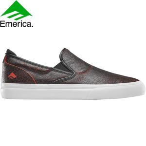 EMERICA WINO G6 SLIP-ON SKATEBOARD SHOES BLACKREDWHITE エメリカ スケートボード スケボー シューズ スニーカー ブラックレッドホワイト 20s|stormy-japan
