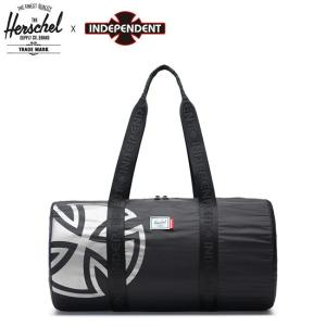 HERSCHEL x INDEPENDENT SUPPLY PACKABLE DUFFLE BAG BLACK ハーシェル サプライ インディペンデント パッカブル ダッフルバッグ ブラック 19s|stormy-japan
