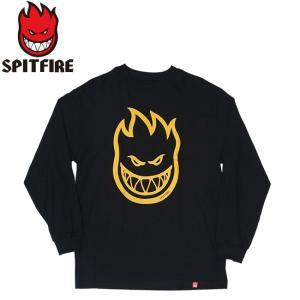 SPITFIRE BIGHEAD LS TEE BLACKYELLOW スピットファイヤー ビッグヘッド 長袖 ロングスリーブ Tシャツ ロンT ブラックイエロー 19m|stormy-japan