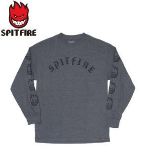 SPITFIRE OLD E LS TEE CHACOALBLACK スピットファイヤー オールド 長袖 ロングスリーブ Tシャツ ロンT チャコールブラック 19m|stormy-japan