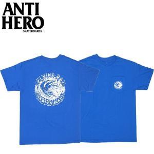 ANTIHERO FLYING RAT POCKET SS TEE ROYAL アンチヒーロー 半袖 ポケット Tシャツ ロイヤル 18m|stormy-japan