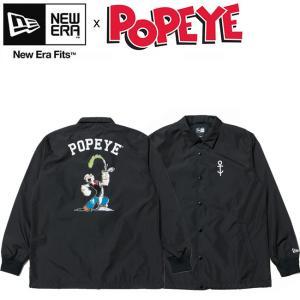 NEW ERA x POPEYE Pump Coach Jacket 11557893 Black ニューエラ ポパイ コーチジャケット 水兵 ブラック 18s|stormy-japan