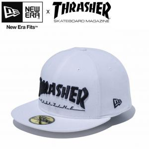 NEW ERA THRASHER 59Fifty Mag Cap 11775386 White ニューエラ スラッシャー マガジン ロゴ キャップ 帽子 ホワイト 18m|stormy-japan