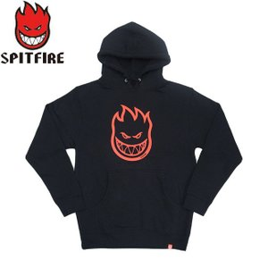 SPITFIRE BIGHEAD PULLOVER HOODED SWEAT BLACK RED スピットファイヤー パーカー プルオーバー フード スウェット ブラック レッド 19f stormy-japan