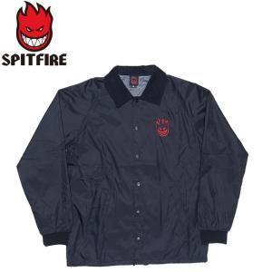 SPITFIRE LIL BIGHEAD EMB COACHES JACKET BLACKRED スピットファイヤー ビッグヘッド コーチジャケット ブラックレッド 18h|stormy-japan