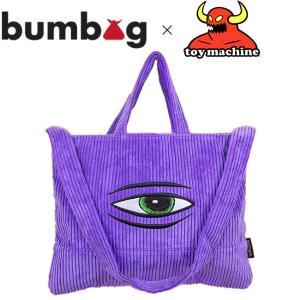 BUMBAG x TOYMACHINE TOTE BAG PURPLE バムバッグ トイマシーン トートバッグ パープル 19f|stormy-japan