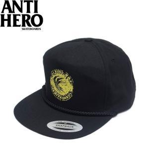 ANTIHERO FLYING RAT SNAPBACK CAP BLACK アンチヒーロー フライングラット スナップバック キャップ 帽子 ブラック 19s|stormy-japan