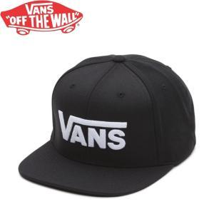 VANS DROP V II SNAPBACK CAP BLACK WHITE バンズ スナップバック キャップ 帽子 ブラック/ホワイト 18m stormy-japan