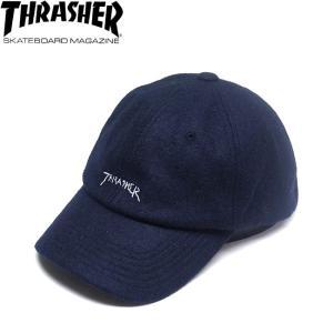 THRASHER GONZ LOGO WOOL STRAPBACK CAP BY MARK GONZALES NAVY スラッシャー マーク・ゴンザレス ゴンズ ストラップバック キャップ 帽子 ネイビー 18f|stormy-japan