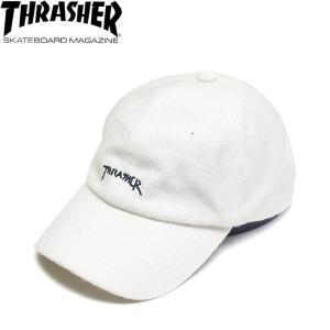 THRASHER GONZ LOGO WOOL STRAPBACK CAP BY MARK GONZALES WHITE スラッシャー マーク・ゴンザレス ゴンズ ストラップバック キャップ 帽子 ホワイト 18f|stormy-japan
