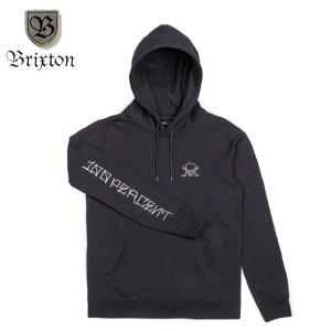 BRIXTON CIEN JASON JESSEE HOODSWEAT BLACK ブリクストン ジェイソンジェシー プルオーバーフードスエット パーカー ブラック 17f|stormy-japan