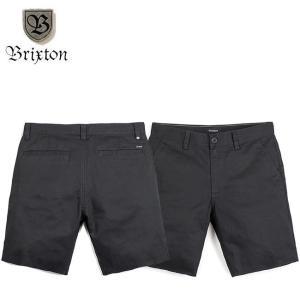 BRIXTON TOIL II SHORT PANT STANDARD FIT BLACK ブリクストン ショートパンツ ハーフパンツ ショーツ スタンダードフィット ブラック 18m|stormy-japan
