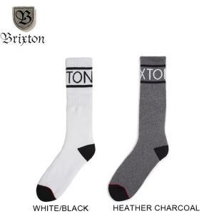 BRIXTON TANNER SOCK WHITEBLACK HEATHERCHARCOAL ブリクストン ソックス 靴下 メンズ ホワイトブラック ヘザーチャコール 18s|stormy-japan