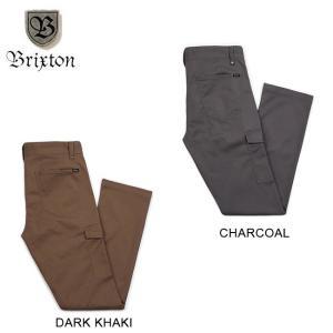 BRIXTON FLEET CARGO PANT RELAXED FIT DARK KHAKI CHARCOAL ブリクストン ガーゴ パンツ メンズ リラックスフィット ダークカーキ チャコール 18s|stormy-japan