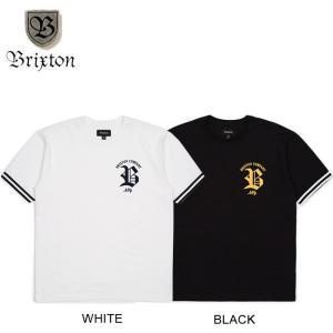 BRIXTON RAWSON SS KNIT TEE WHITE BLACK ブリクストン 半袖 ニット Tシャツ ホワイト ブラック 18m|stormy-japan