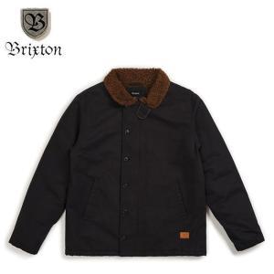BRIXTON MAST JACKET BLACKBROWN ブリクストン コットン ボア ジャケット ブラックブラウン 18h|stormy-japan