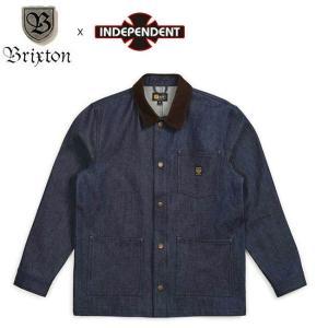 BRIXTON x INDEPENDENT YARD DENIM JACKET RAWINDIGO ブリクストン インディペンデント デニム ジャケット インディゴ 19s|stormy-japan