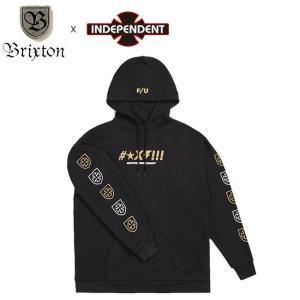 SALE30%OFF BRIXTON x INDEPENDENT SHINE PULLOVER HOOD SWEAT BLACK ブリクストン インディペンデント プルオーバー フードスエット パーカー ブラック 19s stormy-japan