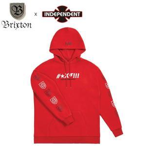 SALE30%OFF BRIXTON x INDEPENDENT SHINE PULLOVER HOOD SWEAT RED ブリクストン インディペンデント プルオーバー フードスエット パーカー レッド 19s stormy-japan