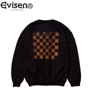 エビセン Evisen トレーナー WYE2-WYE4 CEW NECK SWEAT BLACK エヴィセン クルーネック スウェット ブラック stormy-japan