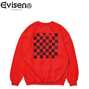 エビセン Evisen トレーナー WYE2-WYE4 CEW NECK SWEAT RED エヴィセン クルーネック スウェット レッド stormy-japan