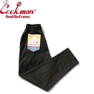 COOKMAN CHEF PANTS BLACK クックマン イージーパンツ シェフパンツ ブラック 19s|stormy-japan